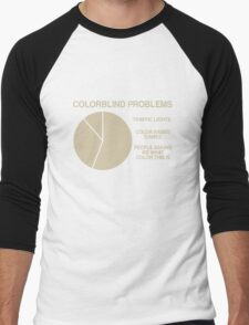 Color blind problems Men's Baseball ¾ T-Shirt