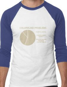 Color blind problems Men's Baseball ¾ T-Shirt