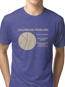 Color blind problems Tri-blend T-Shirt