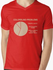 Color blind problems Mens V-Neck T-Shirt