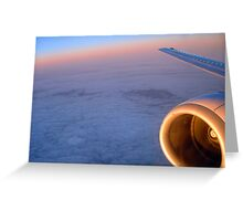 Inflight entertainment Greeting Card