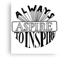 Always Aspire Typography Canvas Print