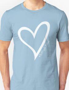 #BeARipple...BELIEVE White Heart on Black Unisex T-Shirt