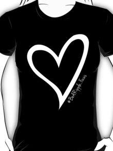 #BeARipple...FOCUS White Heart on Black T-Shirt