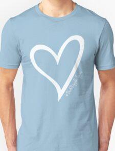 #BeARipple...FOCUS White Heart on Black Unisex T-Shirt