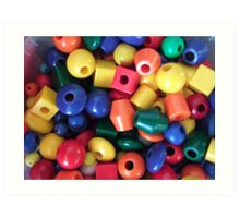 Colourful Beads Art Print