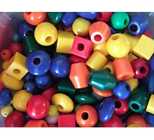 Colourful Beads Photographic Print