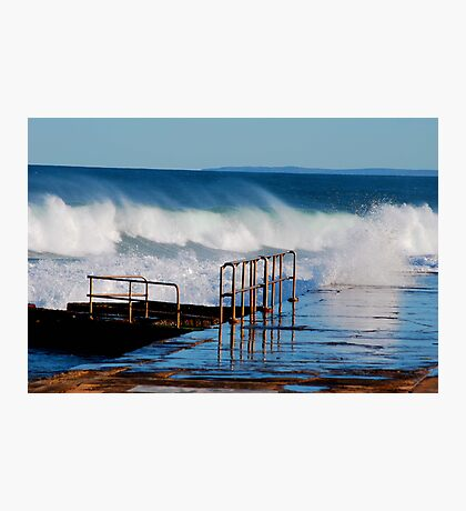 Waves Breaking Over Newcastle Baths Photographic Print