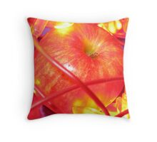 lit apple Throw Pillow