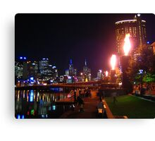 Melbourne and the South Bank Canvas Print