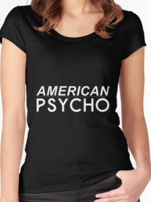 american beauty/AMERICAN PSYCHO Women's Fitted Scoop T-Shirt