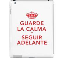 Guarde La Calma Y Seguir Adelante iPad Case/Skin