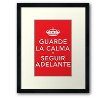 Guarde La Calma Y Seguir Adelante Framed Print