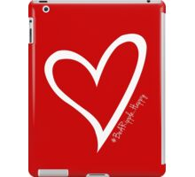 #BeARipple...HAPPY White Heart on RED iPad Case/Skin