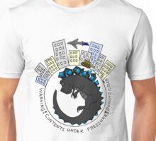 Baby Kaiju Inside Grey-Blue Unisex T-Shirt
