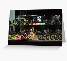 Colourful Shoes Greeting Card