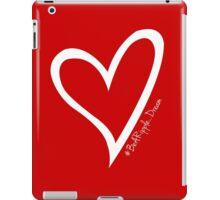 #BeARipple...DREAM White Heart on Red iPad Case/Skin