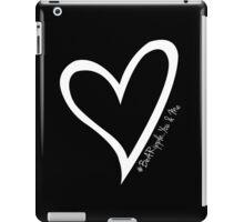 #BeARipple...YOU & ME White Heart on Black iPad Case/Skin