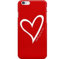 #BeARipple...YOU & ME White Heart on Red iPhone Case/Skin