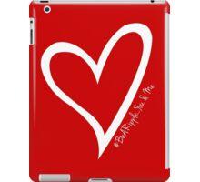 #BeARipple...YOU & ME White Heart on Red iPad Case/Skin