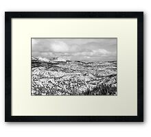 Winter scenery in Bryce Canyon, Utah Framed Print