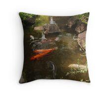Koi Carp River Throw Pillow