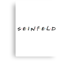 Seinfeld - Friends Logo Style Canvas Print