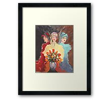 Three Madams of the Wild West Framed Print