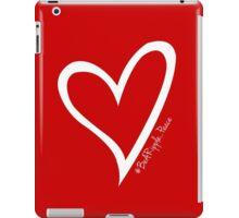 #BeARipple...PEACE White Heart on Red iPad Case/Skin