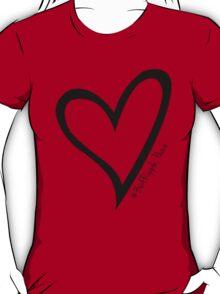 #BeARipple...PEACE Black Heart on Red T-Shirt