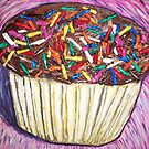 """Chocolate Cupcakes With Sprinkles"" by Adela Camille Sutton"