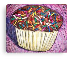 """Chocolate Cupcakes With Sprinkles"" Canvas Print"