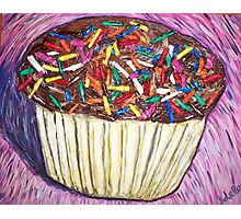 """Chocolate Cupcakes With Sprinkles"" Photographic Print"