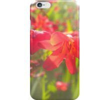 A Flash of Red iPhone Case/Skin