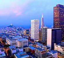 San Francisco Cityscape at Dusk by heyengel