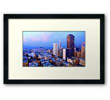 San Francisco Cityscape at Dusk Framed Print