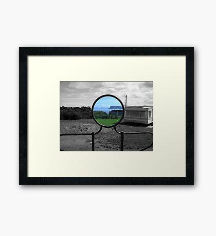 you've been framed Framed Print