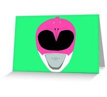 Pink Ranger Greeting Card