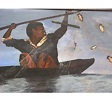 African Fisherman Photographic Print