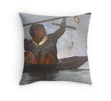 African Fisherman Throw Pillow