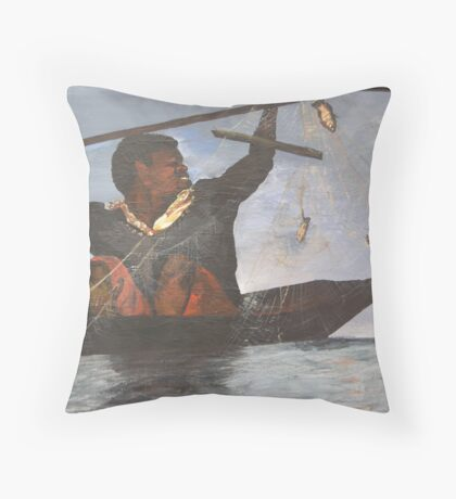 African Fisherman Throw Pillow