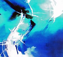 Blue Abstract by Anil Nene