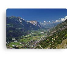 Rhone Valley, Switzerland Canvas Print