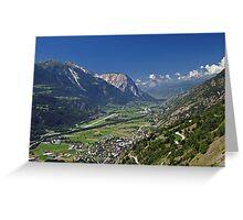 Rhone Valley, Switzerland Greeting Card
