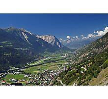 Rhone Valley, Switzerland Photographic Print