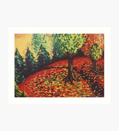 Dance of the Leaves Art Print