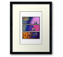 Dragon Rages against the Kids' Electronic Devices Framed Print