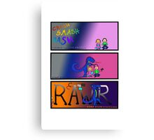 Dragon Rages against the Kids' Electronic Devices Canvas Print