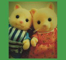 Sylvanian Families ~ Cat Couple Selfie One Piece - Short Sleeve