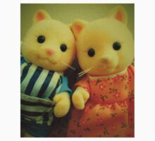 Sylvanian Families ~ Cat Couple Selfie Kids Tee